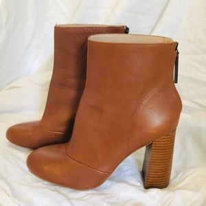French Connection Leather Brown Capri Booties